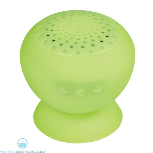 Printed Silicone Speaker With Phone Stand - Lime Green