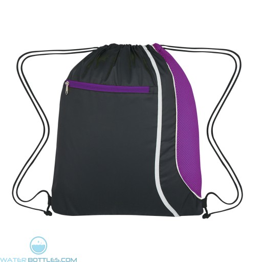 Custom Logo Drawstring Sports Pack - Purple