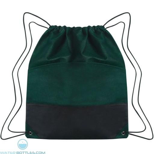 Custom Drawstring Sports Pack - Forest Green