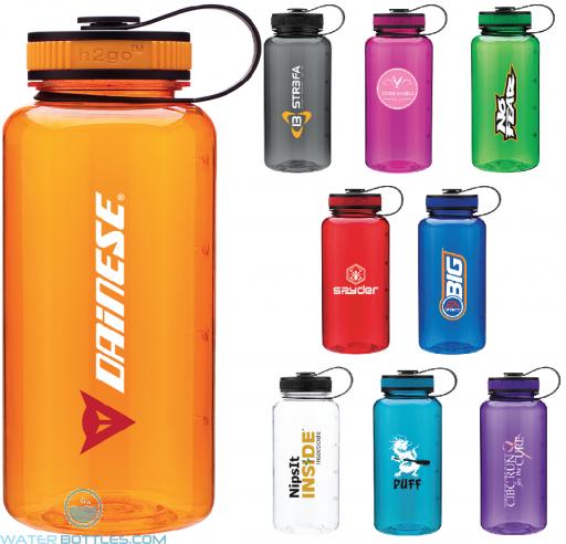 Promo Water Bottles - H2Go Wide Tritan Water Bottles | 34 oz