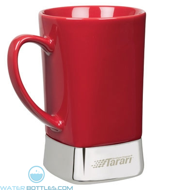 Ceramic & Stainless Steel Mugs | 12 oz - Red