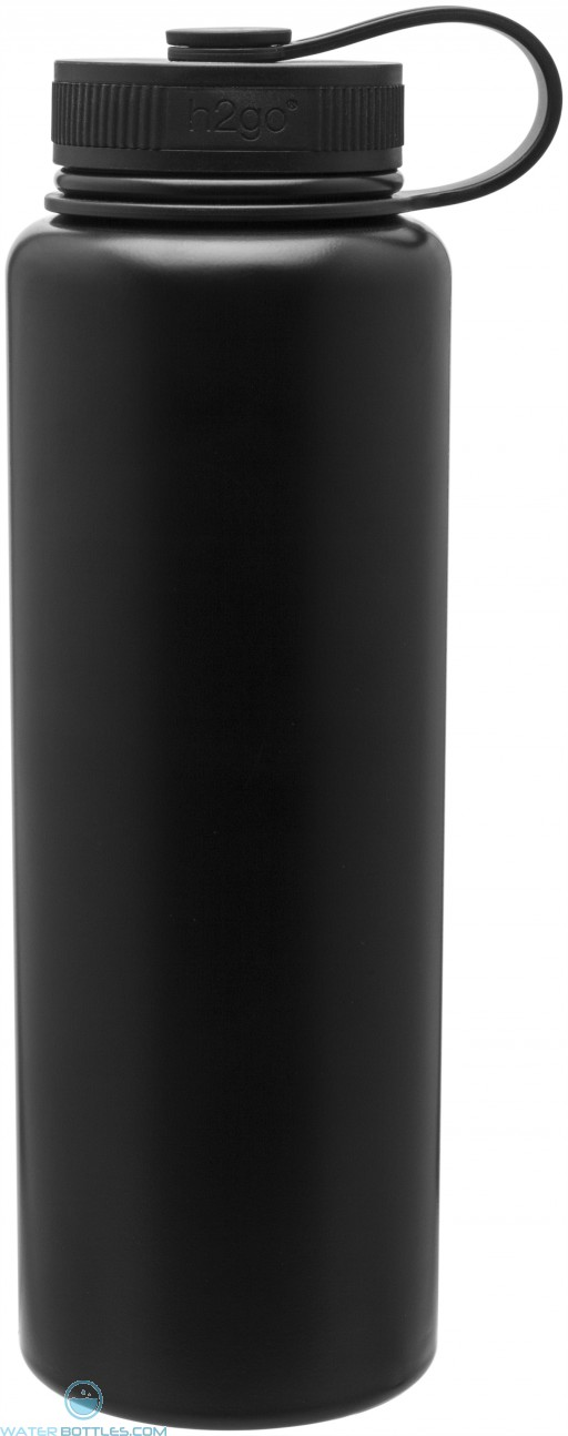 40 oz H2Go Venture Stainless Steel Thermal Water Bottles-Matte Black