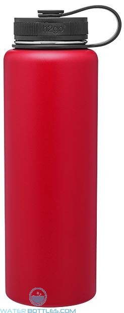 Red 40 oz H2Go Venture Stainless Steel Thermal Water Bottles