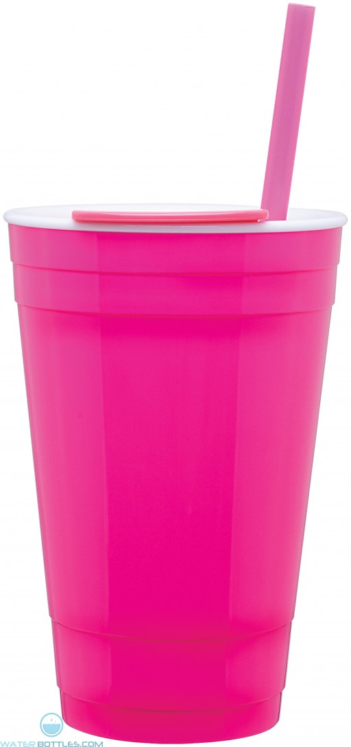 The Player Acrylic Cup | 16 oz - Neon Pink