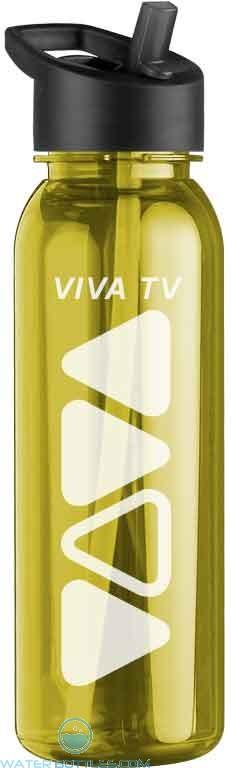 The Outdoorsman- 24 oz. Trtn Bottles -Flip Strw Lid-Transparent--Yellow