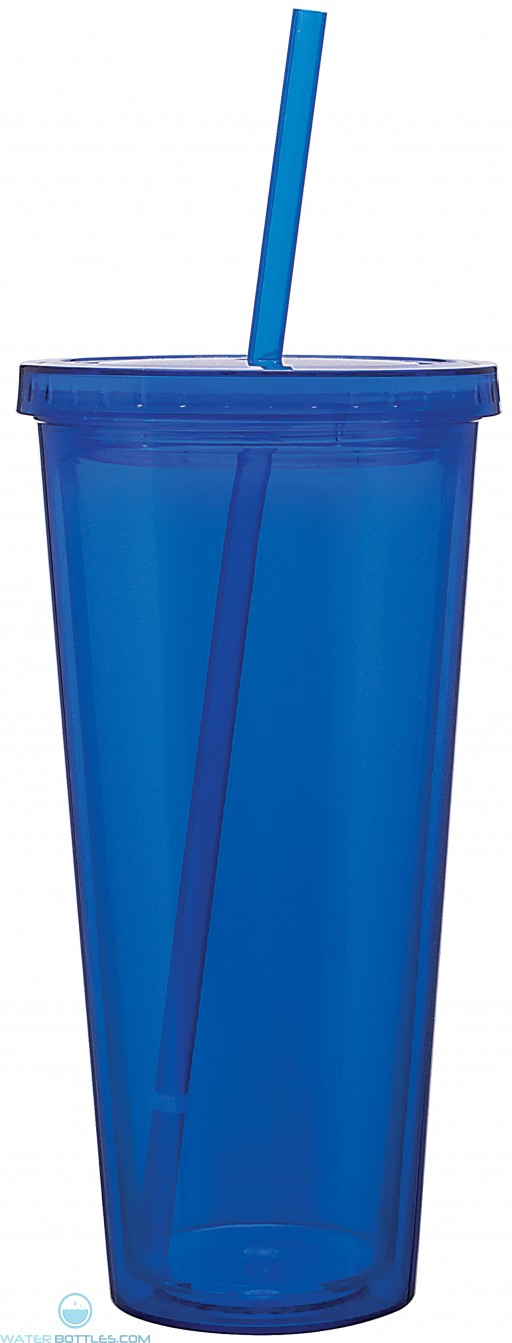 Double Wall Acrylic Spirit Tumblers | 20 oz - Blue