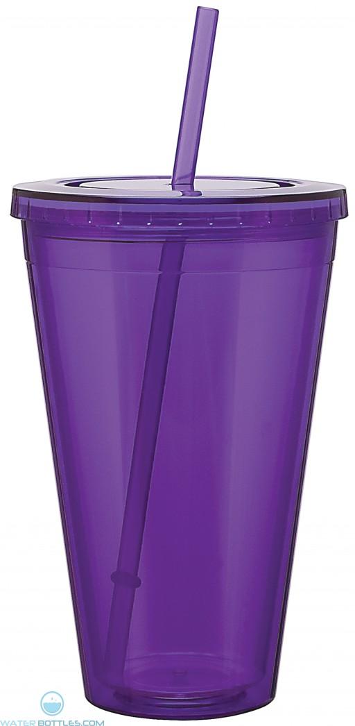 Double Wall Acrylic Spirit Tumblers | 24 oz - Purple