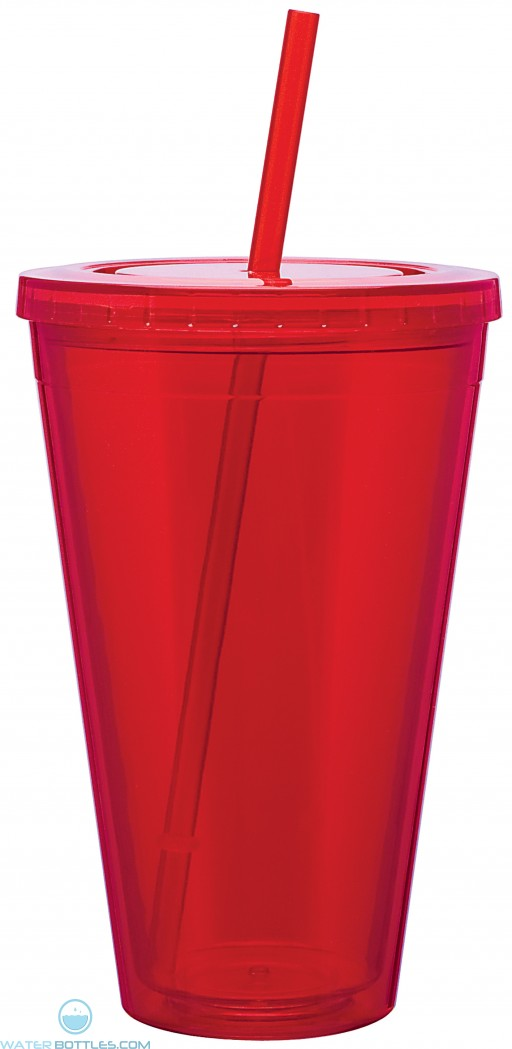Double Wall Acrylic Spirit Tumblers | 24 oz - Red