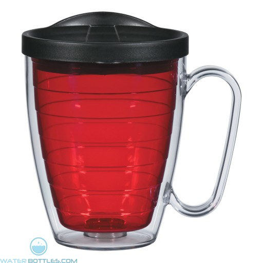 Double Wall Mugs With Handle | 16 oz - Red
