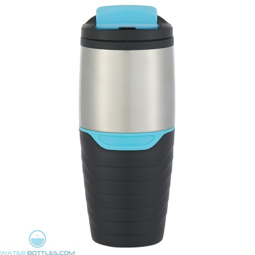 Stainless Steel Tumblers With Flip Lock Lid | 16 oz - Blue