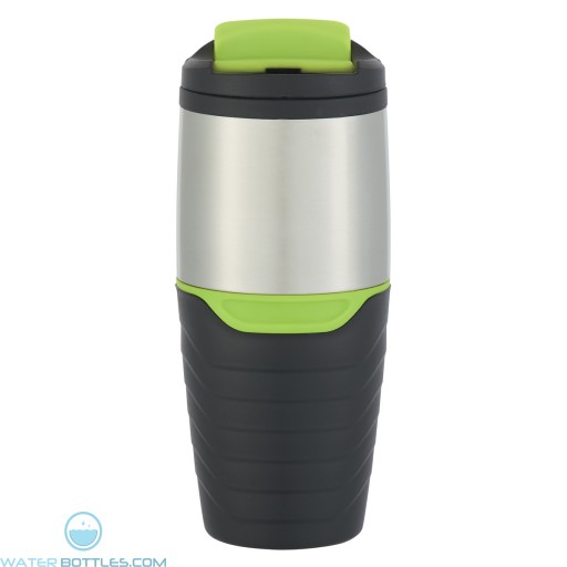 Stainless Steel Tumblers With Flip Lock Lid | 16 oz - Green
