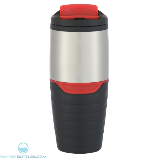 Stainless Steel Tumblers With Flip Lock Lid | 16 oz - Red