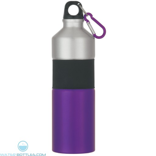 Two-Tone Aluminum Bottles With Rubber Grip | 25 oz - Purple