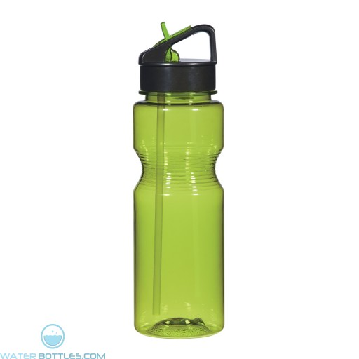 Ring Around The Bottles With Straw | 24 oz - Lime Green