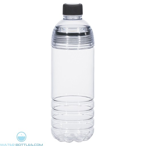 Easy-Clean Water Bottles | 28 oz - Clear Bottles With Black Cap and Accents