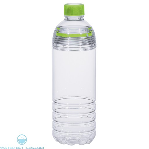 Easy-Clean Water Bottles | 28 oz - Clear Bottles With Lime Green Cap and Accents