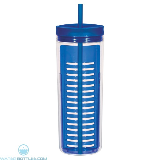 Infusion Bottles With Straw | 20 oz - Blue