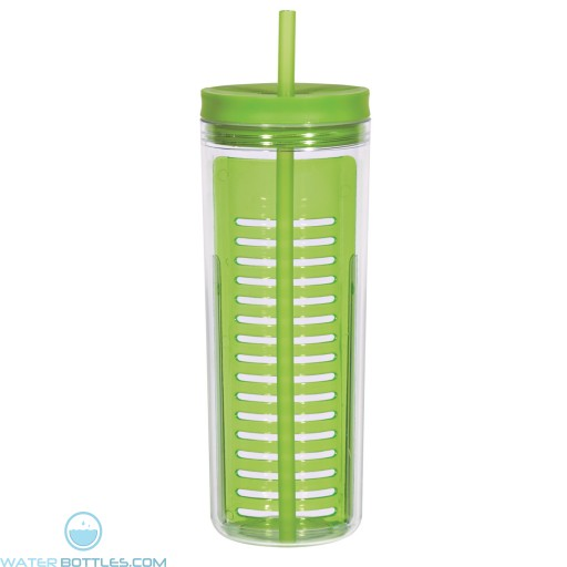 Infusion Bottles With Straw | 20 oz - Green