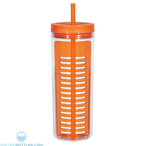 Infusion Bottles With Straw   20 oz - Orange