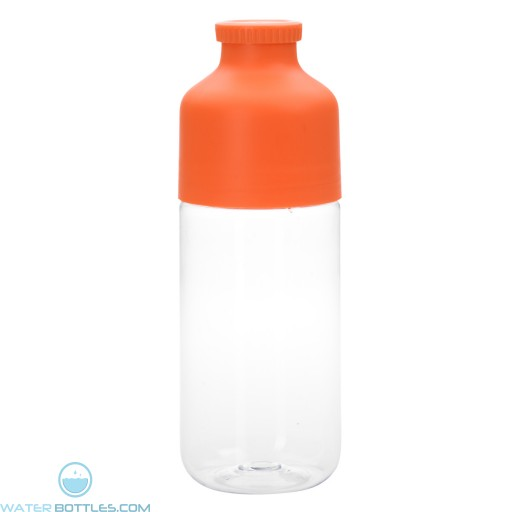 Color Top Bottles | 23 oz - Clear With Orange Trim