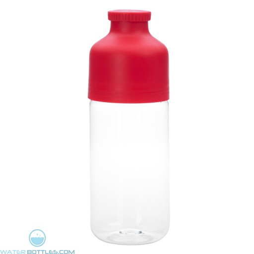 Color Top Bottles | 23 oz - Clear With Red Trim