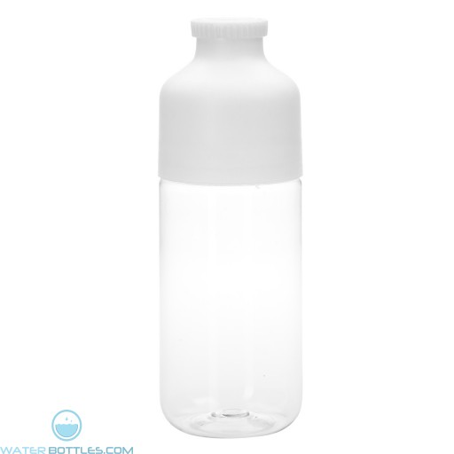 Color Top Bottles | 23 oz - Clear With White Trim