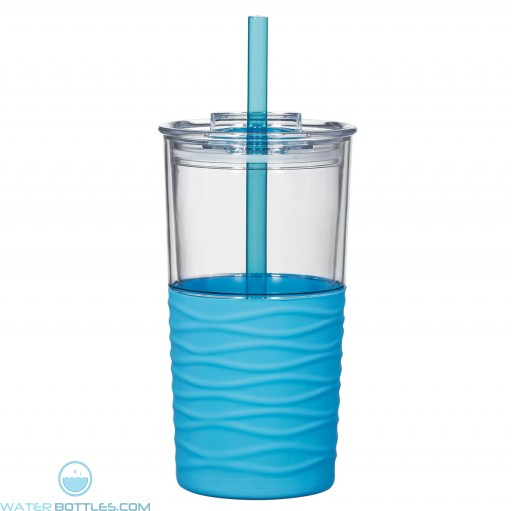 Riptide Tumblers | 20 oz - Clear with Blue Sleeve