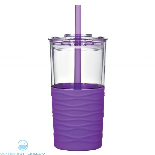 Riptide Tumblers | 20 oz - Clear with Purple Sleeve