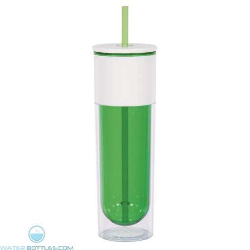 Quench Bottles With Lid And Straw   16 oz - Green