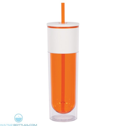 Quench Bottles With Lid And Straw | 16 oz - Orange