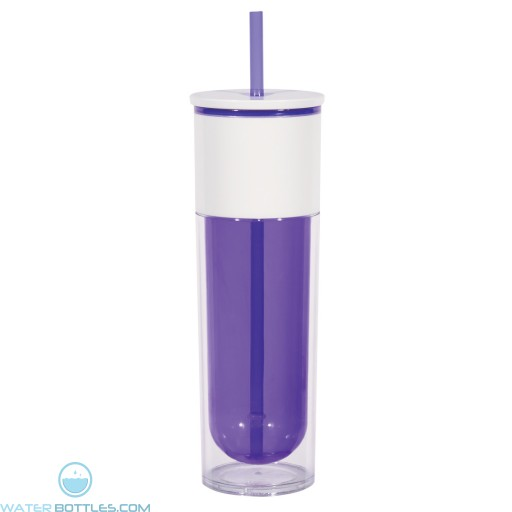 Quench Bottles With Lid And Straw | 16 oz - Purple