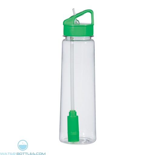 Economy Filter Bottles | 24 oz - Clear With Green Trim