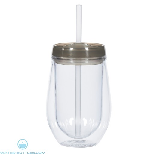 Bev/Go Tumblers | 10 oz - Clear with Black Lid