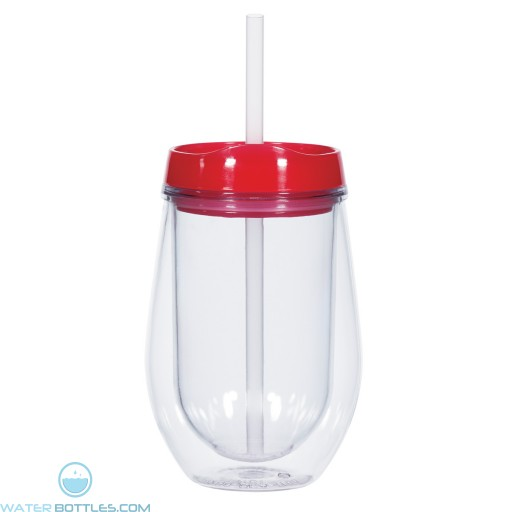 Bev/Go Tumblers | 10 oz - Clear with Red Lid