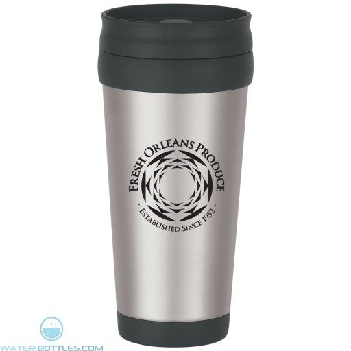 Promo Tumblers - Stainless Steel Tumbler With Slide Action Lid And Plastic Inner Liner | 16 oz