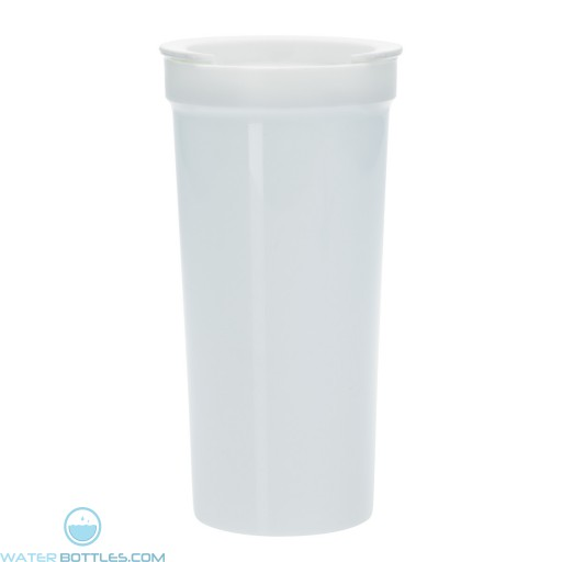 Tumblers With Lock Lid   16 oz - White