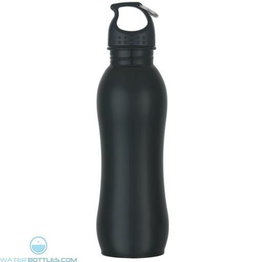 Stainless Steel Grip Bottles | 25 oz - Metallic Black