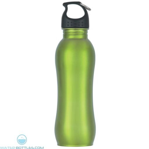 Stainless Steel Grip Bottles   25 oz - Metallic Green