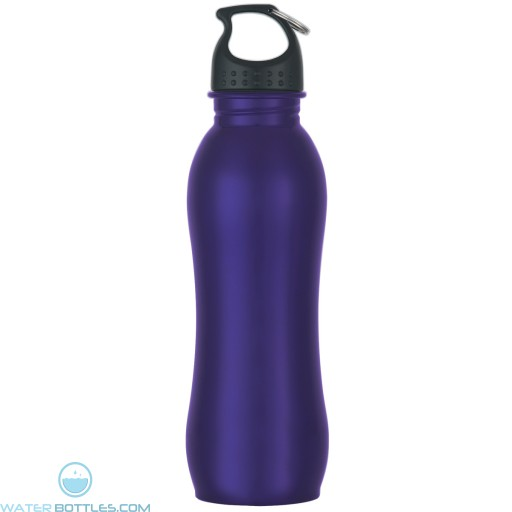 Stainless Steel Grip Bottles   25 oz - Metallic Purple