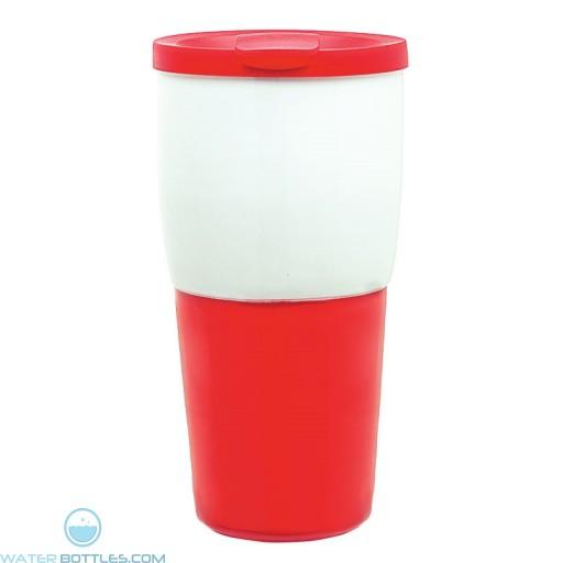 Ceramic Travel Tumblers   15 oz - Red