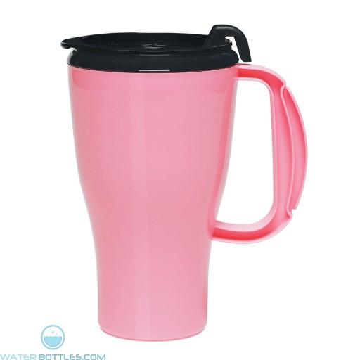 Omega Mugs With Slider Lid | 16 oz - Pink