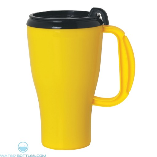 Omega Mugs With Slider Lid | 16 oz - Yellow