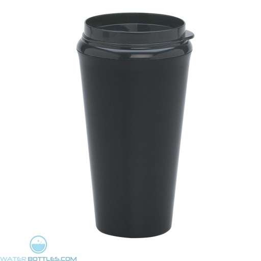 Infinity Tumblers With Plastic Sip Thru Lid | 16 oz - Metallic Black