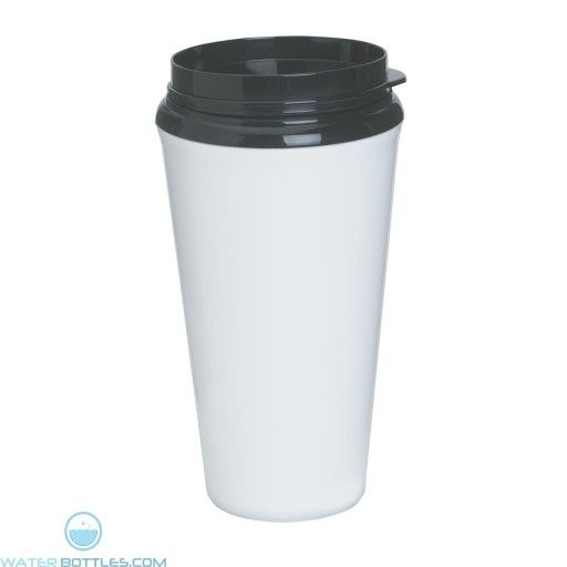 Infinity Tumblers With Plastic Sip Thru Lid | 16 oz - White