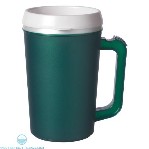 Thermo Insulated Mugs   22 oz - Dark Green