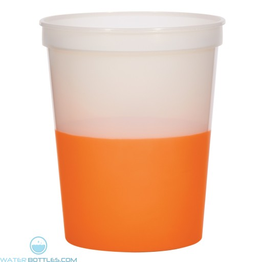 Color Changing Stadium Cup | 16 oz - Frosted Orange