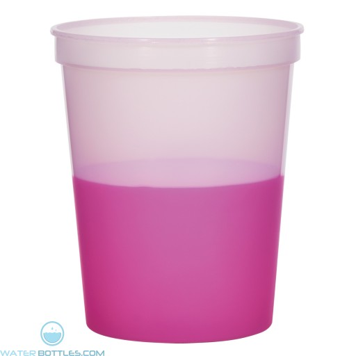 Color Changing Stadium Cup | 16 oz - Frosted Pink