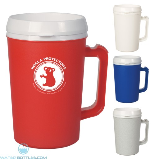 Custom Logo Mugs - Thermo Insulated Mug | 34 oz