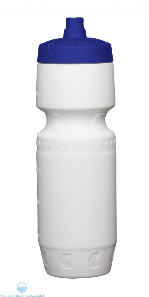 Proshot Water Bottles | 24 oz - White with Blue Lid