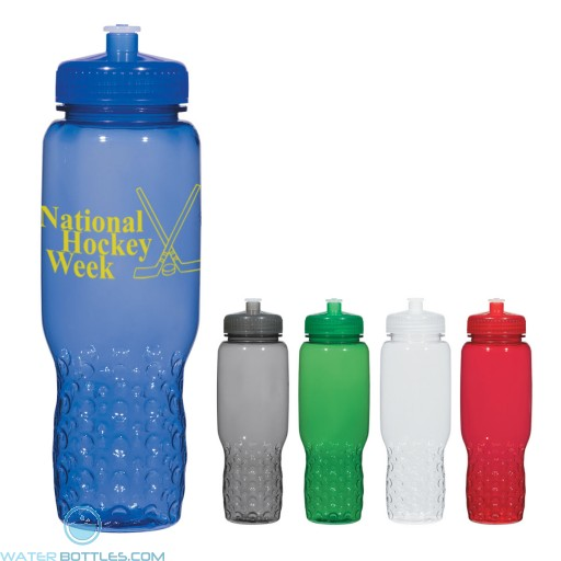 Personalized Sports Water Bottles - Hydroclean Sports Bottles With Groove Grippers   32 oz